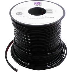 Kabel za zvočnike 2 x 0.80 mm² rdeče, črne barve TRU Components 1386696 30 m