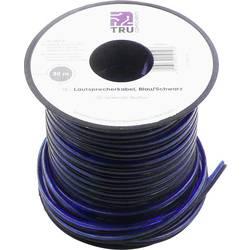 Kabel za zvočnike 2 x 0.80 mm² modre, črne barve TRU Components 1386697 30 m