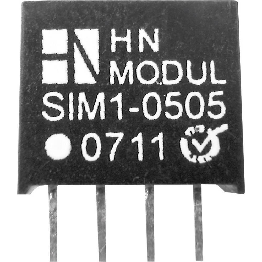 DC/DC pretvornik za tiskano vezje HN Power SIM1-1205-SIL4 12 V/DC 5 V/DC 200 mA 1 W št. izhodov: 1 x