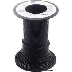 Flätad kabel LiY 1 x 0.14 mm² Svart TRU COMPONENTS 1566830 10 m