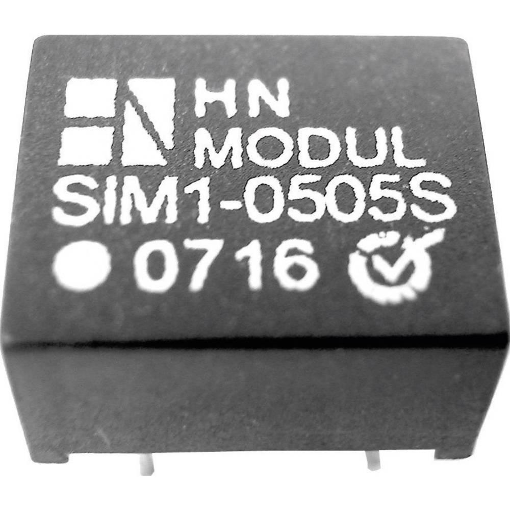 DC/DC pretvornik za tiskano vezje HN Power SIM1-0512D-DIL8 5 V/DC 12 V/DC, -12 V/DC 50 mA 1 W št. izhodov: 2 x