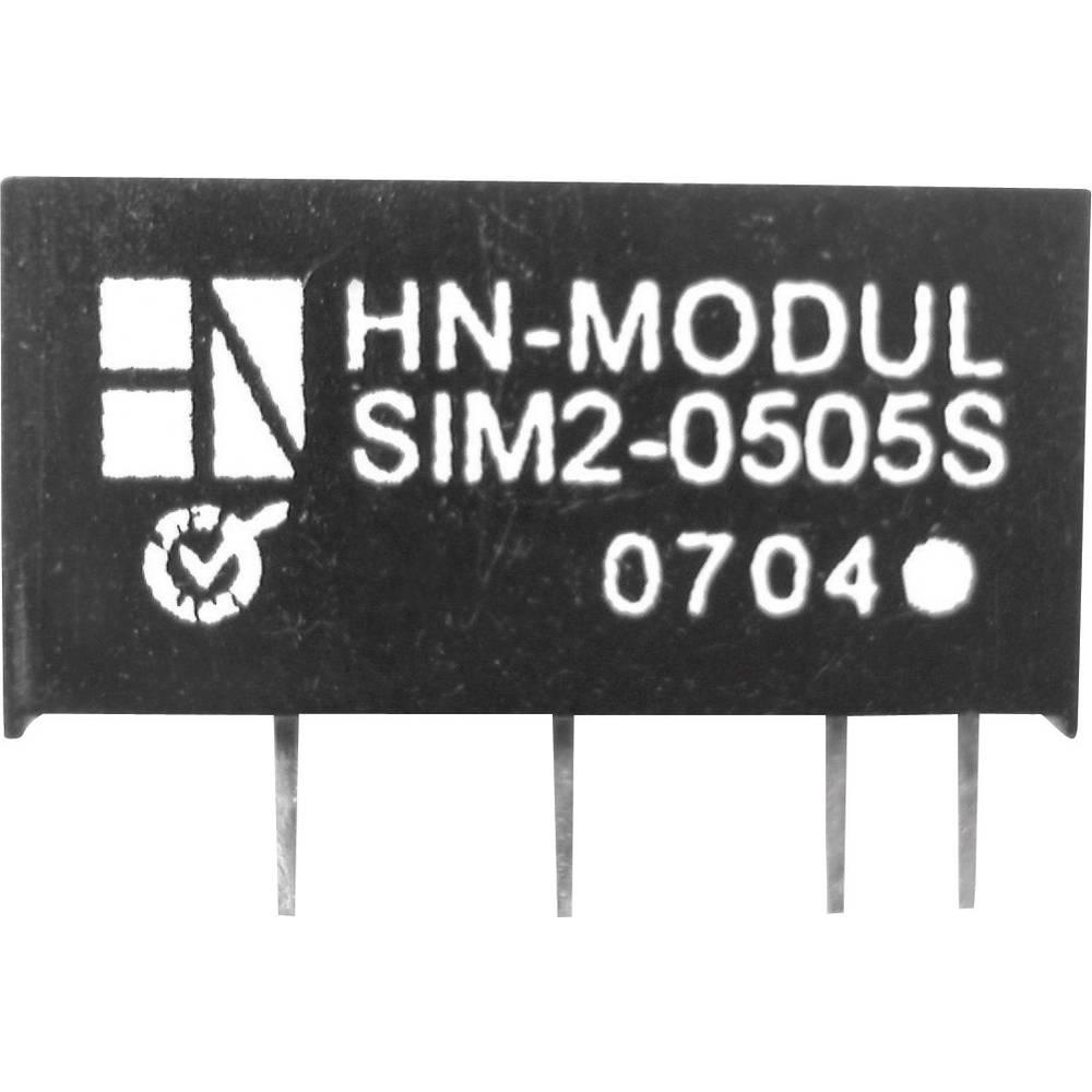 DC/DC pretvornik za tiskano vezje HN Power SIM2-0515D-SIL7 5 V/DC 15 V/DC, -15 V/DC 66 mA 2 W št. izhodov: 2 x