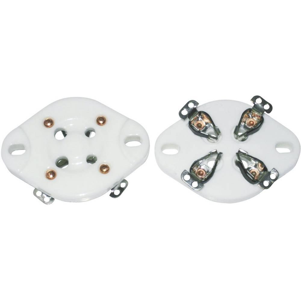 Podnožje elektronke 1 kom. 156846 št. polov: 4 podnožje: UX-4 vrsta montaže: šasija material: keramika