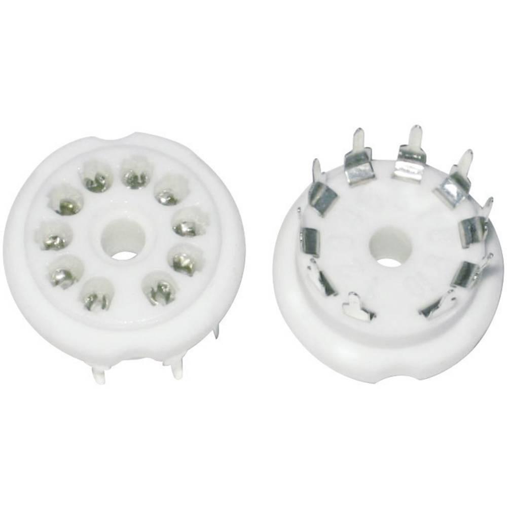 Podnožje elektronke 1 kom. 156847 št. polov: 10 podnožje: dekalno vrsta montaže: tiskano vezje material: keramika