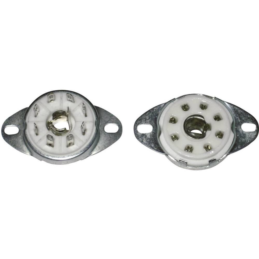 Podnožje za el. cijev, polovi:8 Sockel Loktal Montageart Chassis opis: keramika