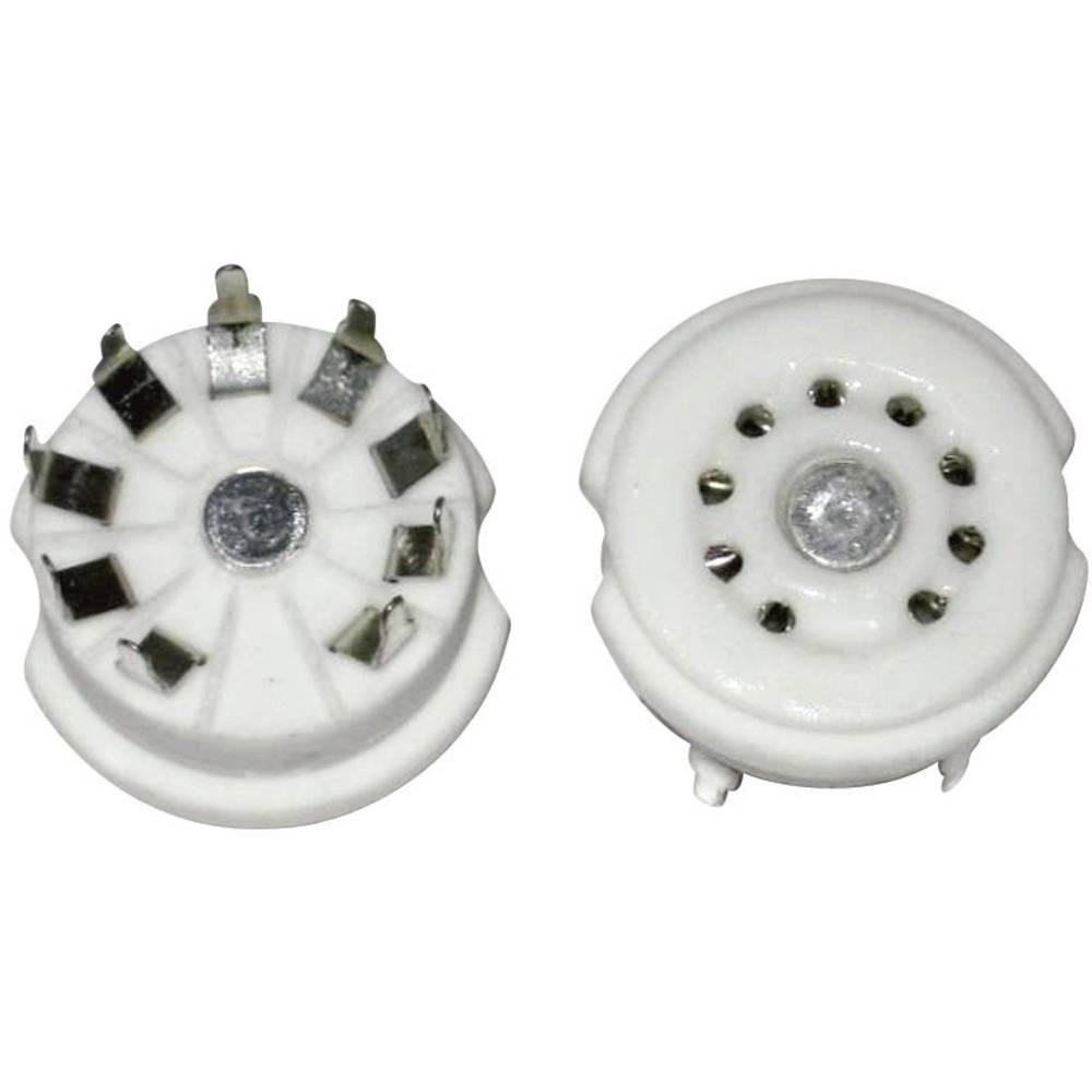 Podnožje elektronke 1 kom. 156850 št. polov: 9 podnožje: novalno vrsta montaže: tiskano vezje material: keramika