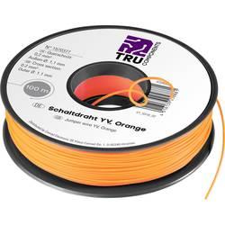 Preklopna žica Yv 1 x 0.20 mm² oranžne barve TRU COMPONENTS 1565378 25 m