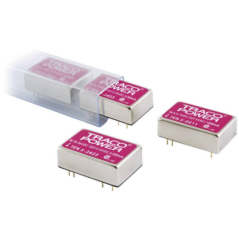 DC/DC pretvornik za tiskano vezje TracoPower TEN 5-0511 5 V/DC 5 V/DC 1 A 5 W št. izhodov: 1 x