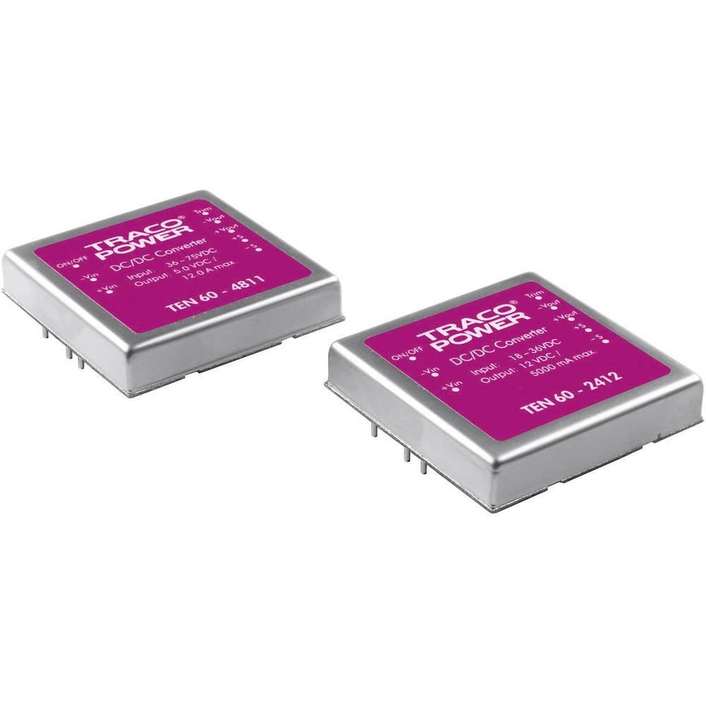 DC/DC pretvornik za tiskano vezje TracoPower TEN 60-2413 24 V/DC 15 V/DC 4 A 60 W št. izhodov: 1 x
