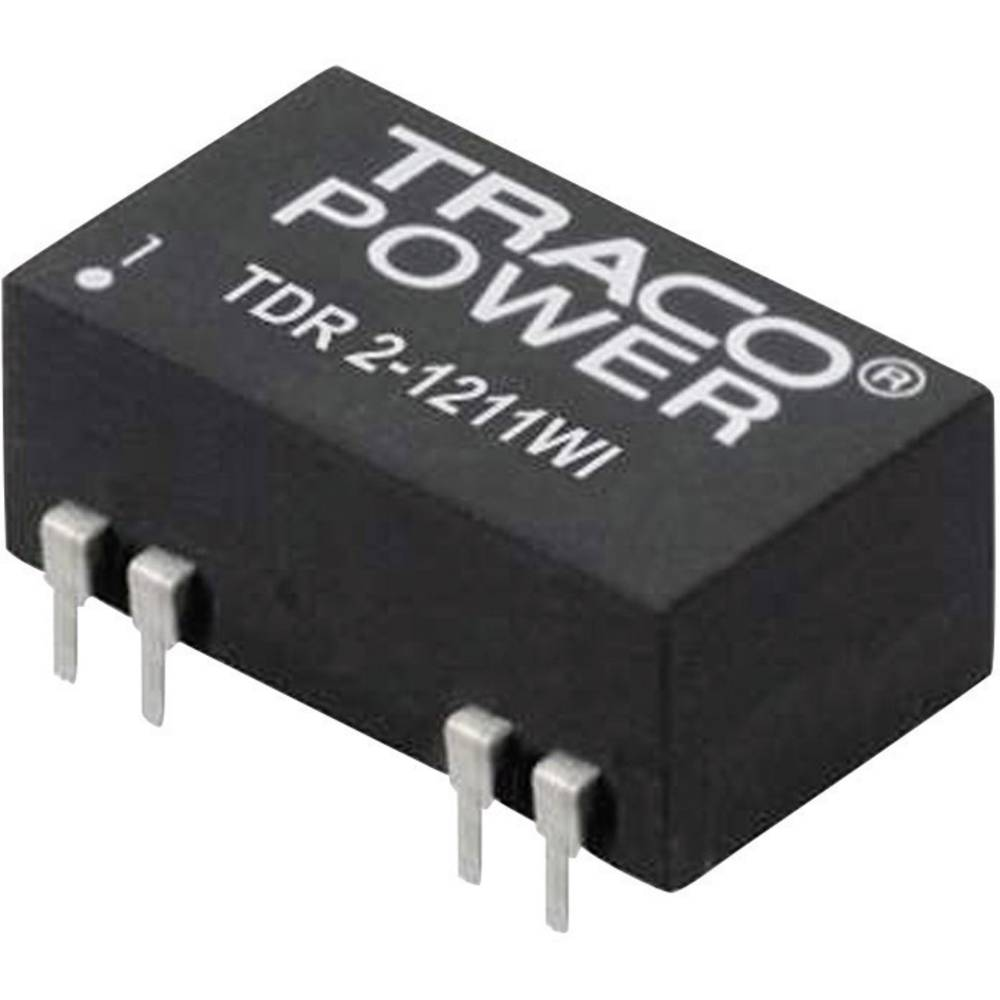 DC/DC pretvornik za tiskano vezje TracoPower TDR 2-1212WI 12 V/DC 12 V/DC 167 mA 2 W št. izhodov: 1 x