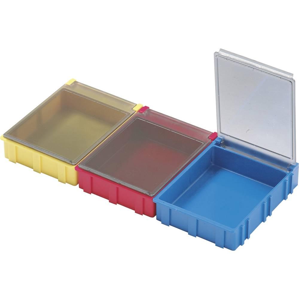 SMD-sorteringskasse, ikke-ledende, gennemsigtigt låg Licefa SMD-BOX N52341 (L x B x H) 180 x 68 x 15 mm Antal bokse 1 Gul