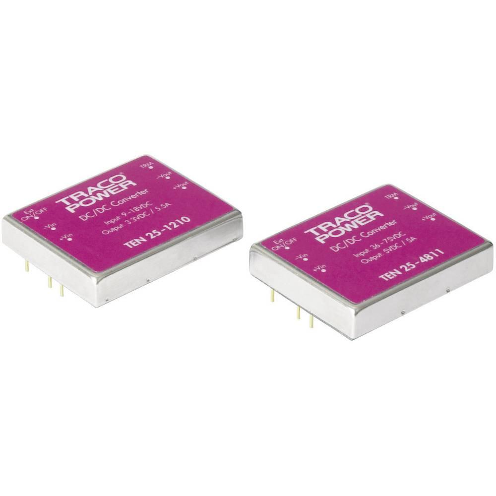 DC/DC pretvornik za tiskano vezje TracoPower TEN 25-1211 12 V/DC 5 V/DC 5 A 25 W št. izhodov: 1 x