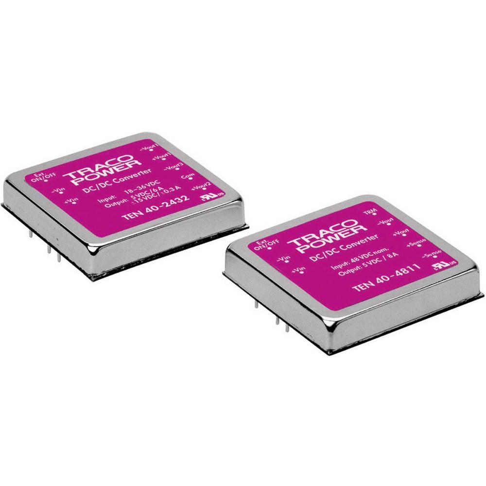DC/DC pretvornik za tiskano vezje TracoPower TEN 40-1223 12 V/DC 15 V/DC, -15 V/DC 1.4 A 40 W št. izhodov: 2 x
