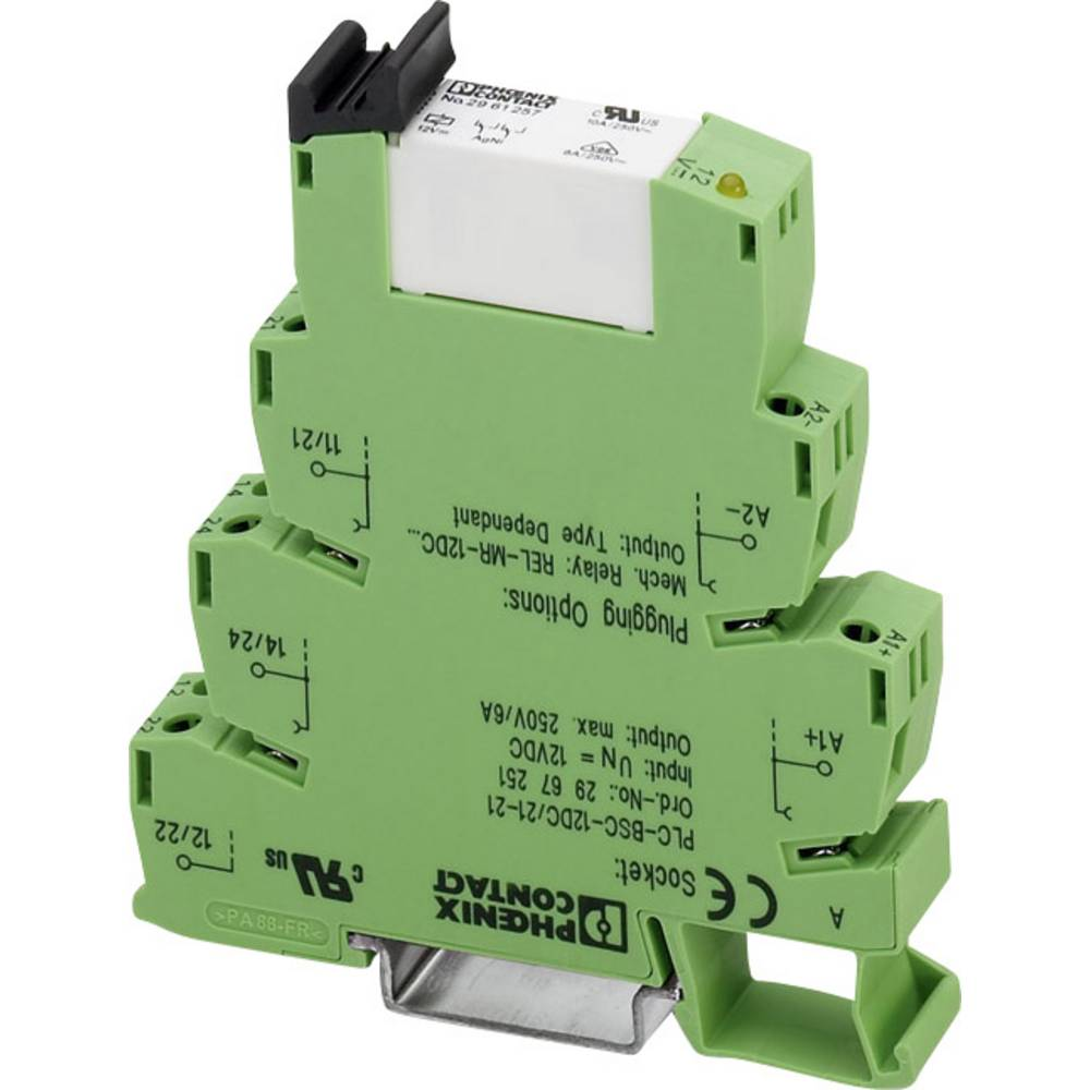 Relej sučelja 1 kom. 220 V/DC, 230 V/AC 6 A 2 preklopni Phoenix Contact PLC-RSC-230UC/21-21