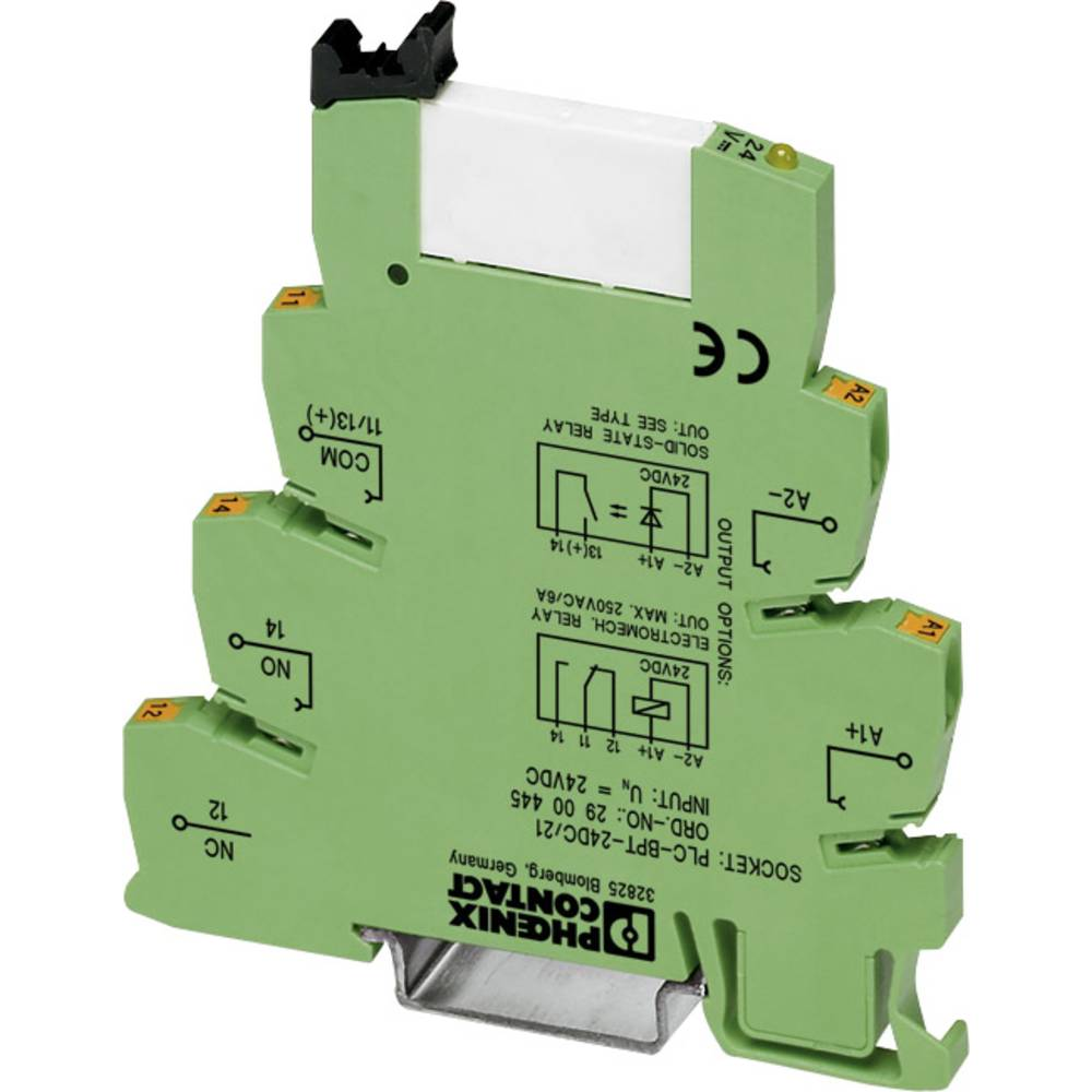 Interfacerelais (value.1472424) 10 stk 220 V/DC, 230 V/AC 6 A 1 Wechsler (value.1345271) Phoenix Contact PLC-RPT-230UC/21