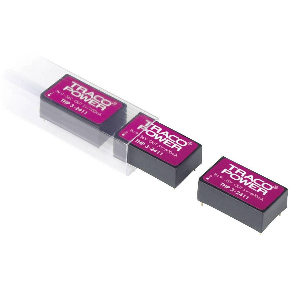 DC/DC pretvornik za tiskano vezje TracoPower THP 3-4812 48 V/DC 12 V/DC 250 mA 3 W št. izhodov: 1 x