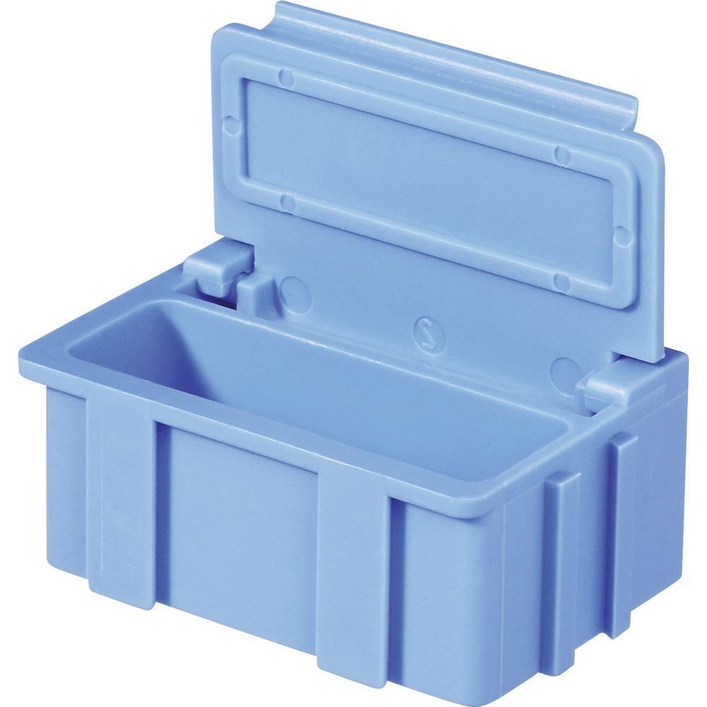 SMD-sorteringskasse, ikke-ledende, ensfarvet Licefa SMD BOX N2 N22244 (L x B x H) 37 x 12 x 15 mm Antal bokse 1 Gul