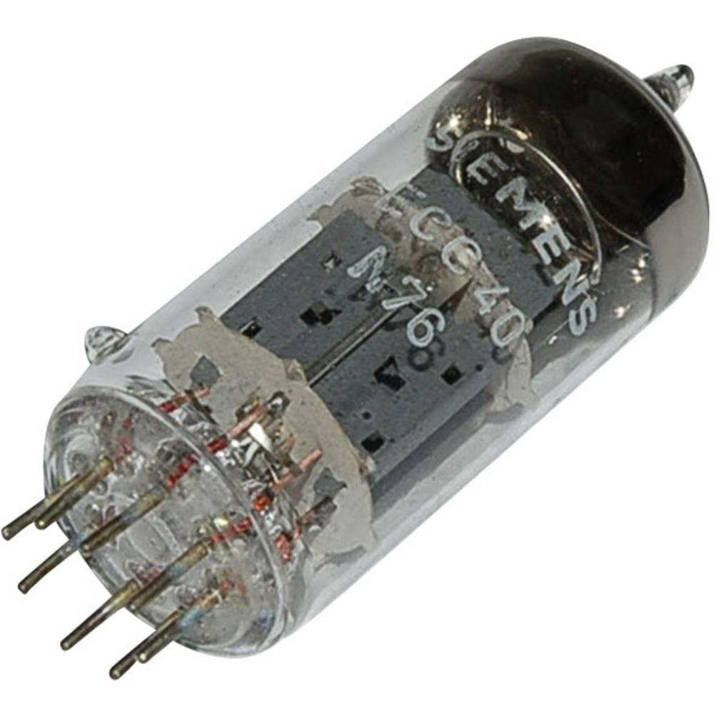 Elektronka ECC 40 dvojna trioda 250 V 6 mA št. polov: 8 podnožje: 8 pinsko rimlock