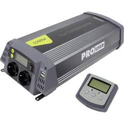 Inverter ProUser Sinus PSI1500 1500 W 12 V/DC Udaljeno upravljanje Vijačne kvačice