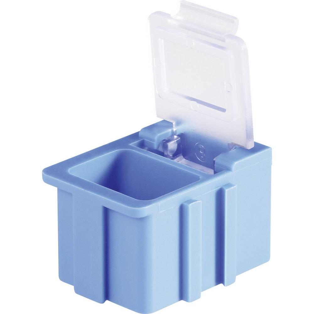 SMD škatla, rdeča, barva pokrova: prozorna 1 kos (D x Š x V) 16 x 12 x 15 mm Licefa N12361