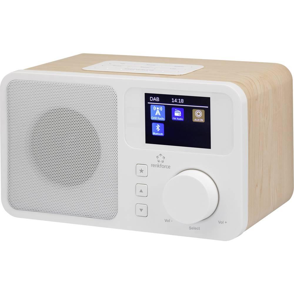 DAB+ stolni radio Renkforce RF-DAB-RETRO1 DAB+, UKW, Bluetooth® drvo