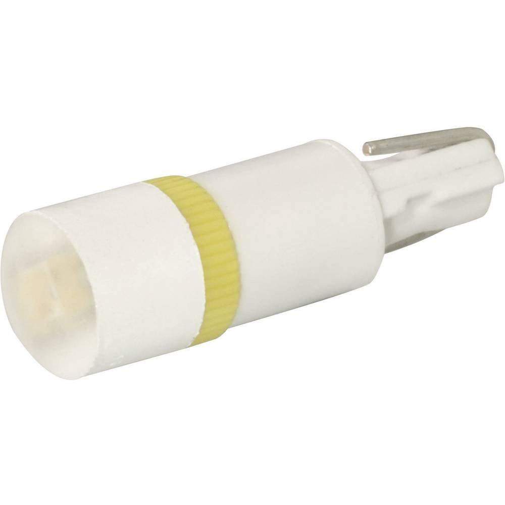 LED-diode Signal Construct W2 x 4,6d 12 V/DC, 12 V/AC 400 mcd Rød