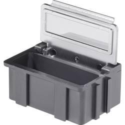 SMD-sorteringskasse, ledende, gennemsigtigt låg Licefa N266101LS (L x B x H) 37 x 12 x 15 mm