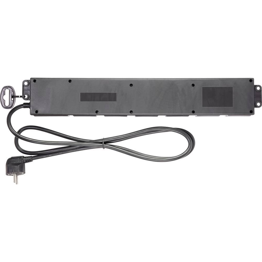 Renkforce 615C-CMB-USB Razdelilna letev s stikalom Črna Vtičnica