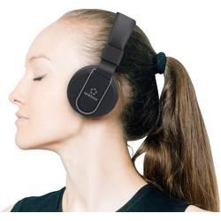 HiFi Stereo-Headset On-ear Renkforce RF-BTK-100 Bluetooth Svart-grå