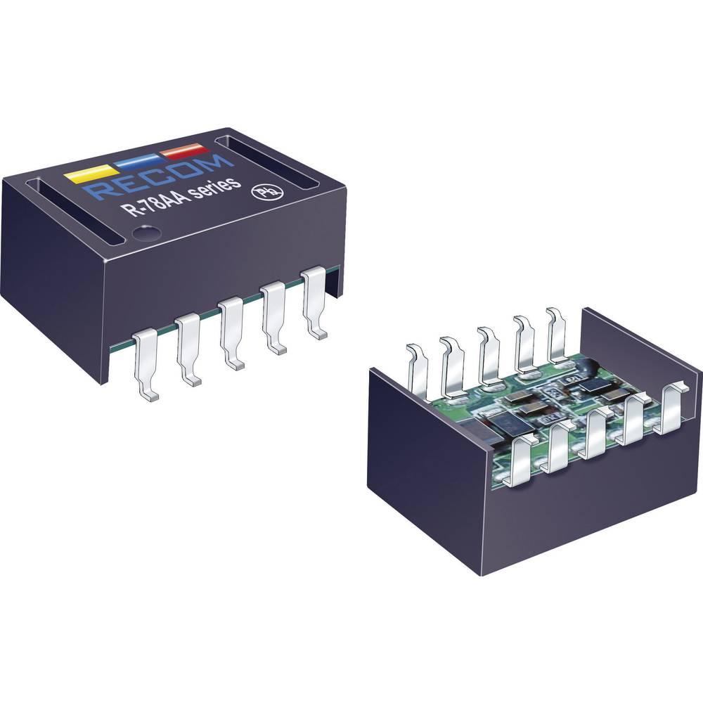 DC/DC pretvornik SMD RECOM R-78AA3.3-1.0SMD 5.5 V/DC 1 A 6 W št. izhodov: 1 x
