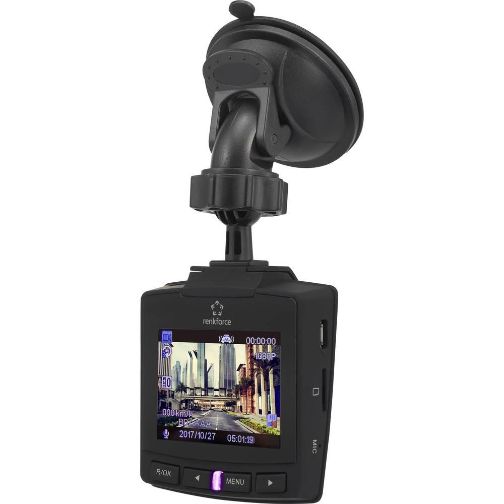 Avto kamera z GPS Renkforce RF-DC-1G maks. vodoravni kot gledanja.: 152 ° 12 V, 5 V/DC zaslon, akumulator, mikrofon