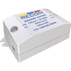 Konstant LED-strømkilde 6 W 350 mA 22 V/DC Recom Lighting RACD06-350 Driftsspænding maks.: 264 V/AC