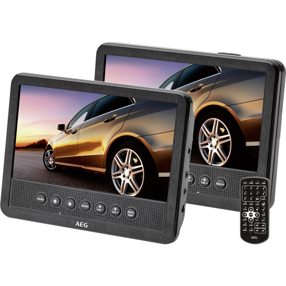 AEG DVD 4555 DVD predvajalnik za avtomobilsko vzglavnik z 2 monitorjema diagonala slike=17.5 cm (7)