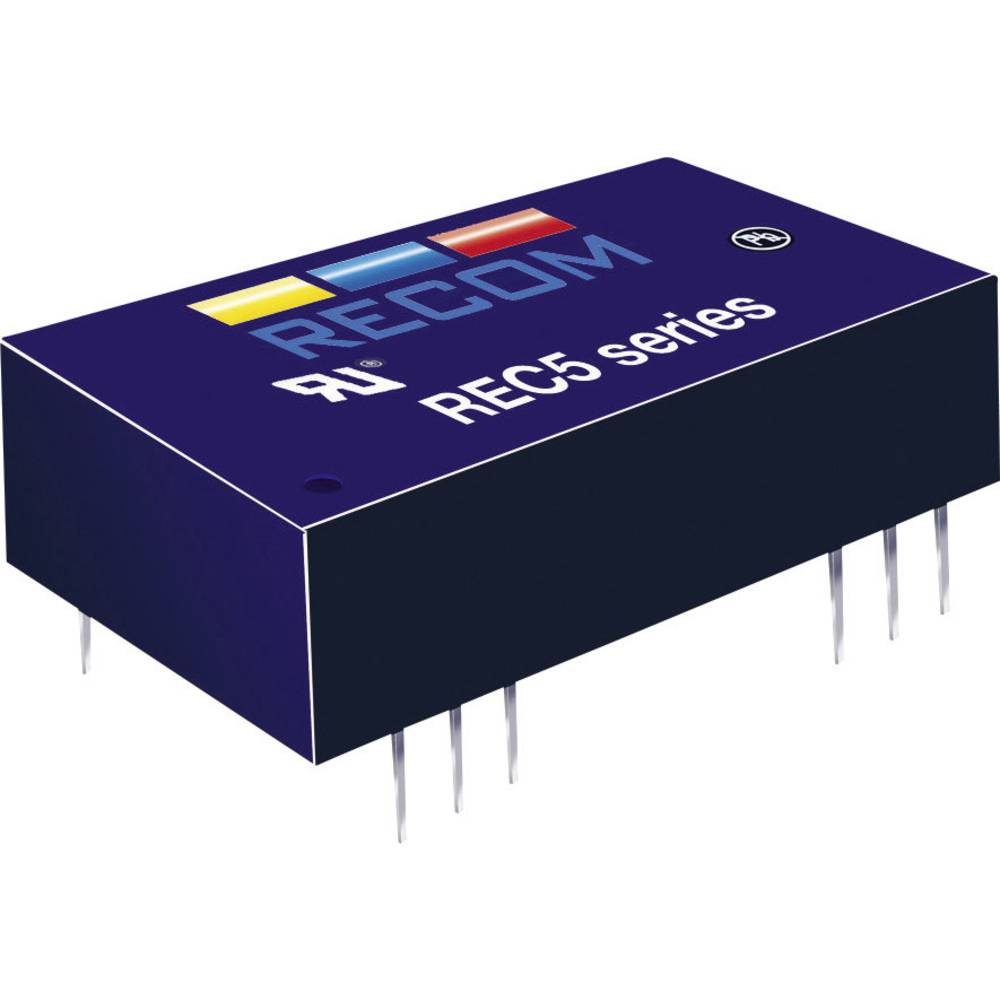 DC/DC pretvornik za tiskano vezje RECOM REC5-2405SRW/H4/A 24 V/DC 5 V/DC 1 A 5 W št. izhodov: 1 x