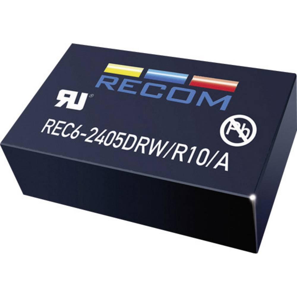 DC/DC pretvornik za tiskano vezje RECOM REC6-0505SRW/R10/A 5 V/DC 5 V/DC 1 A 6 W št. izhodov: 1 x