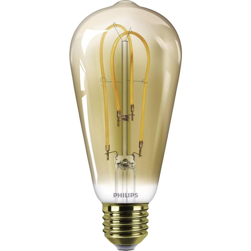 LED Glödlampsform E27 Philips Lighting Filament 5 W 250 lm A Guld 1 st