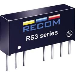 DC/DC-omformer, print RECOM RS3-2415D 24 V/DC 15 V/DC, -15 V/DC 100 mA 3 W