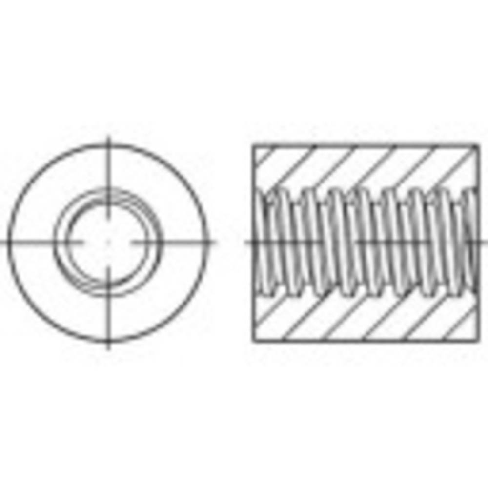 Trapetsgängad rundmutter TOOLCRAFT 300 mm Stål 1 st