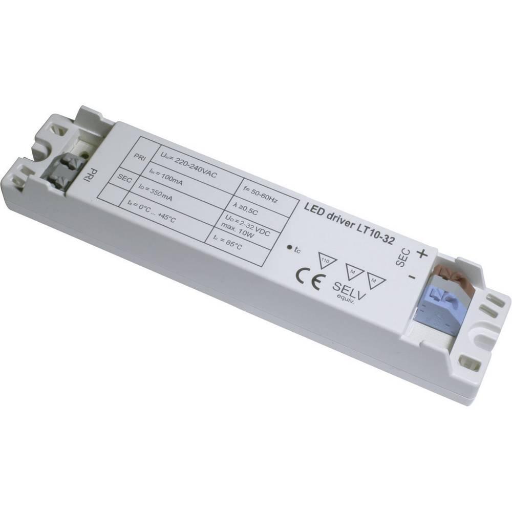 LED-napajalnik LT10-32/350, izh. tok: (2-30 V/DC) 350 mA, obr. nap.: (+10 %) 220-240 V/AC