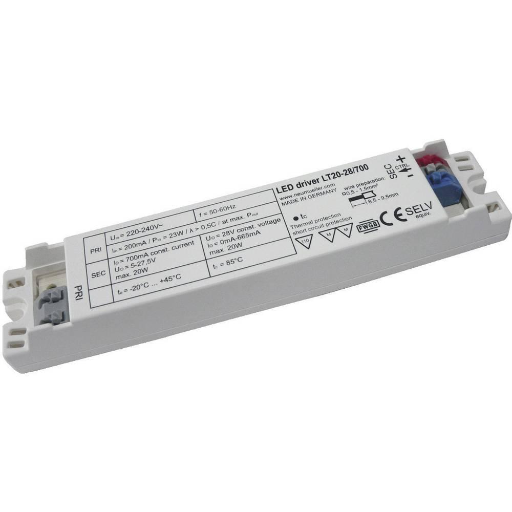 LED-napajalnik LT20-28/700, izh. tok: (5-27,5 V/DC) 700 mA,obr. n.: (+10 %) 220-240 V/AC