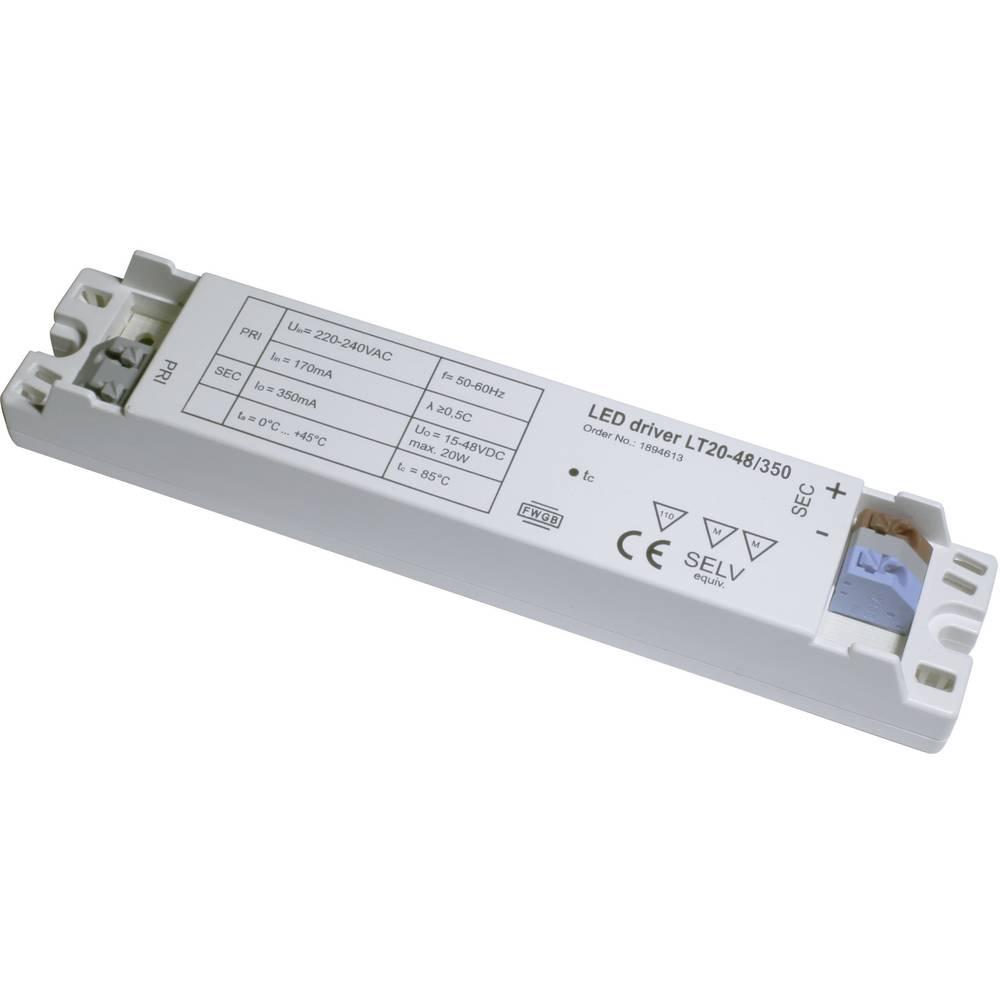 LED-napajalnik LT20-48/350, izh. tok: (15-47 V/DC) 350 mA, obr. n.: (+10 %) 220-240 V/AC