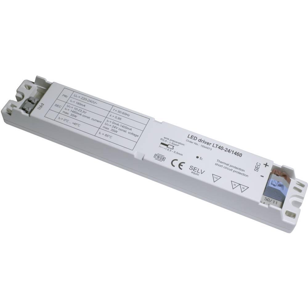 LED-napajalnik LT40-24/1460, tok: (10-23,5 V/DC) 1.460 mA, obr. n.: (+10 %) 220-240 V/AC
