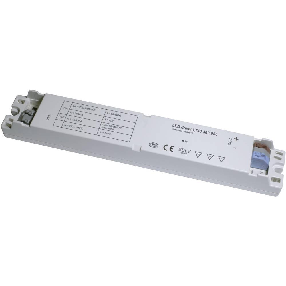 LED gonilnik 1050mA 37,8 W 36 V / DC LT40-36 / 1050 obratovalna napetost maks. 240 V / AC