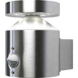 LED-utomhusväggbelysning med rörelsedetektor OSRAM Endura® Style Cylinder Wall 6 W 306 lm Varmvit Rostfritt stål