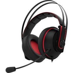 Gaming-headset Asus Cerberus V2 Over Ear Röd, Svart