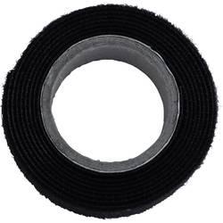 Sprijemalni trak za povezovanje, oprijemni in mehki del (D x Š) 1000 mm x 20 mm črne barve TRU Components 910-330-Bag 1 m