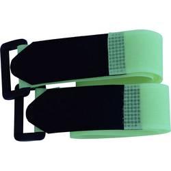Sprijemalni trak s pasom, oprijemni in mehki del (D x Š) 300 mm x 25 mm zelene barve TRU Components 688-656-Bag 2 kosa