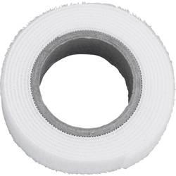 Sprijemalni trak za povezovanje, oprijemni in mehki del (D x Š) 1000 mm x 20 mm bele barve TRU Components 910-010-Bag 1 m