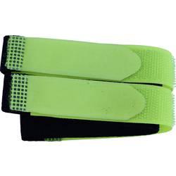 Sprijemalni trak s pasom, oprijemni in mehki del (D x Š) 400 mm x 20 mm črne, rumene barve TRU Components 693-656-Bag 2 kosa