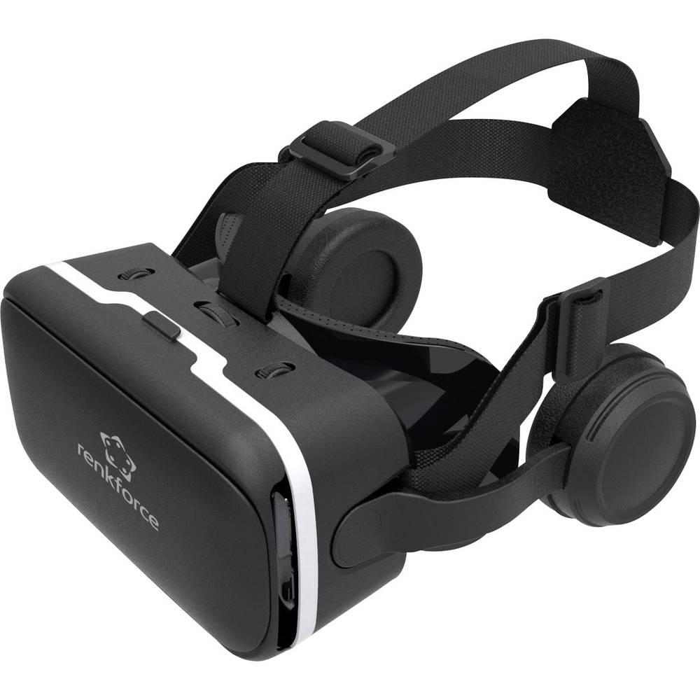 Renkforce RF-VR2 crne naočale za virtualnu stvarnost s naglavnim slušalicama